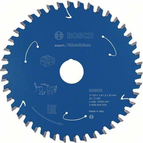 Bosch Lame de scie circulaire Expert for Aluminium pour scies sans fil, 120 x 1,8/1,2 x 20, 42 dents - 2608644534