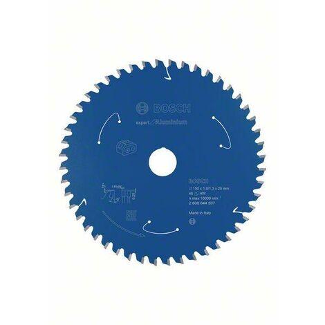 Bosch Lame de scie circulaire Expert for Aluminium pour scies sans fil, 150 x 1,8/1,3 x 20, 48 dents - 2608644537