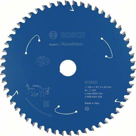 Bosch Lame de scie circulaire Expert for Aluminium pour scies sans fil 165 x 1,8/1,3 x 20, T54 - 2608644539