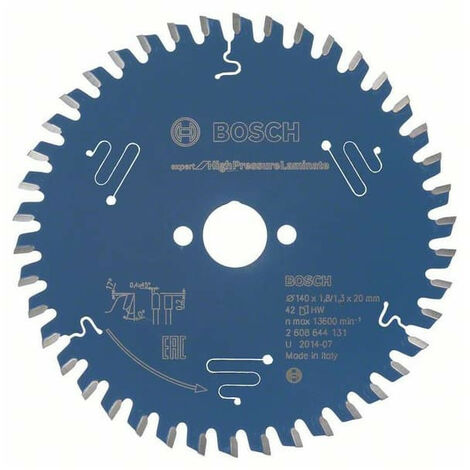 Bosch Lame de scie circulaire Expert for High Pressure Laminate, 140 x 20 x 1,8 mm, 42 - 2608644131