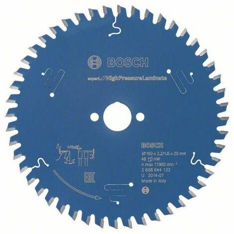 Bosch Lame de scie circulaire Expert for High Pressure Laminate 160 x 20 x 2,2/1,6 x 48
