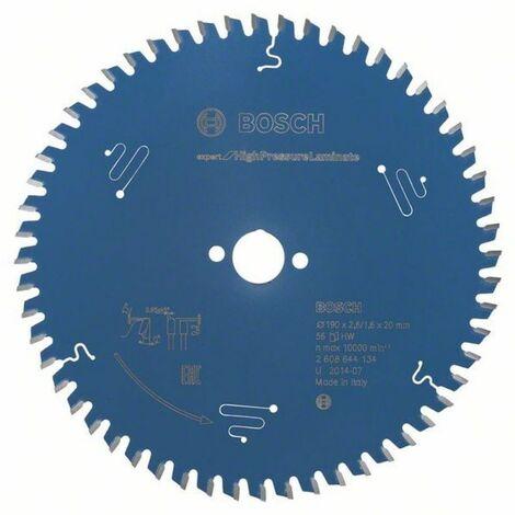Bosch Lame de scie circulaire Expert for High Pressure Laminate 190 x 20 x 2,6/1,6 x 56