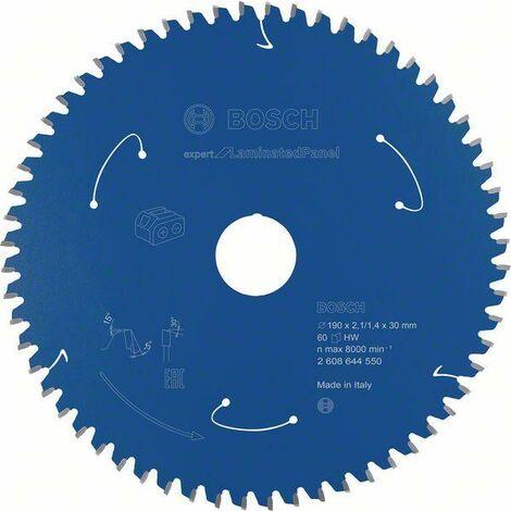 Bosch Lame de scie circulaire Expert for Laminated Panel pour scies sans fil 190 x 2,1/4 x 30 T60 - 2608644550