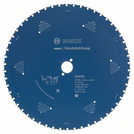 Bosch Lame de scie circulaire Expert for Sandwich Panel, 355 x 30 x 2,6 mm, 80 dents - 2608644147
