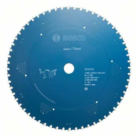 Bosch Lame de scie circulaire Expert for Steel. 355 x 25.4 x 2.6 mm 80