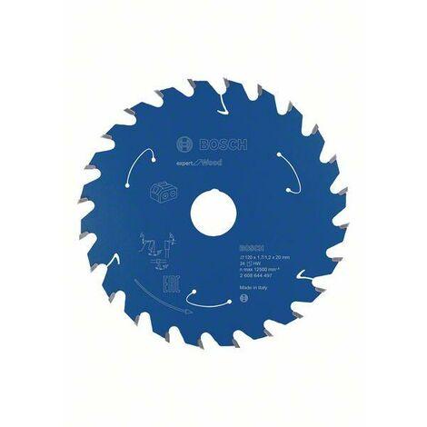 Bosch Lame de scie circulaire Expert for Wood, 120 x 1,7 x 20 mm, 24 dents - 2608644497