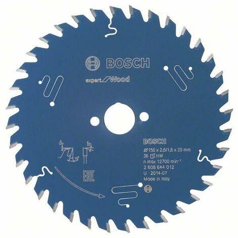 Bosch Lame de scie circulaire Expert for Wood, 150 x 20 x 2,6 mm, 36 dents - 2608644012
