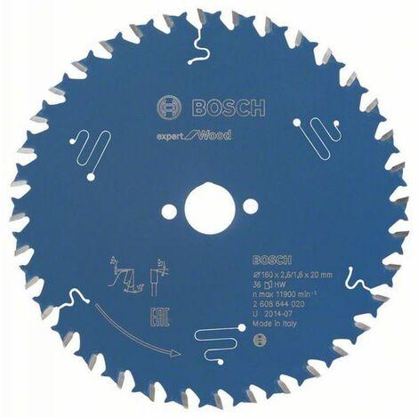 Bosch Lame de scie circulaire Expert for Wood 160 x 20 x 2,6/1,6 x 36