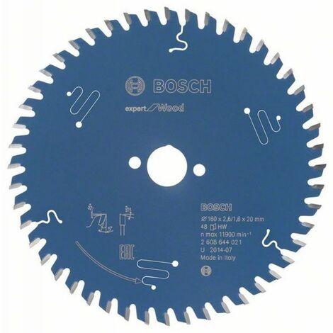 Bosch Lame de scie circulaire Expert for Wood 160 x 20 x 2,6/1,6 x 48