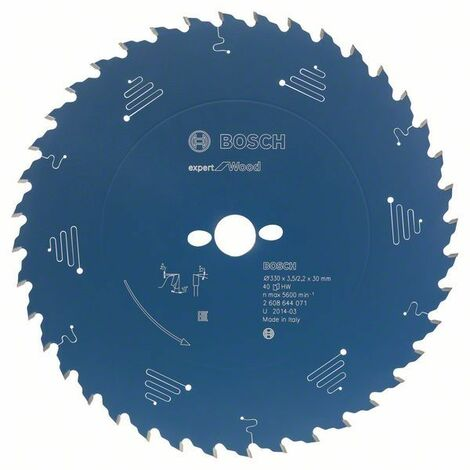 Bosch Lame de scie circulaire Expert for Wood, 160 x 20 x 2,6 mm, 24 dents - 2608644019