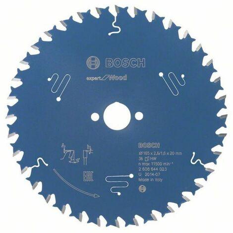 Bosch Lame de scie circulaire Expert for Wood 165 x 20 x 2,6/1,6 x 36