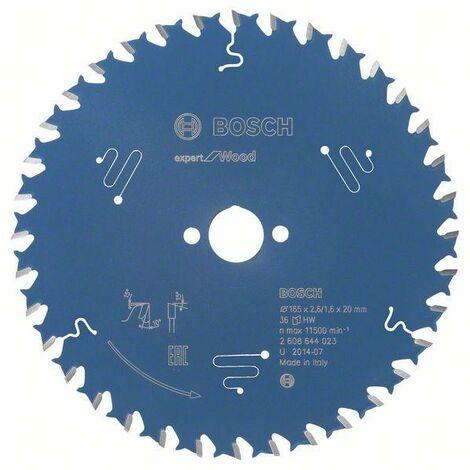 Bosch Lame de scie circulaire Expert for Wood 165 x 20 x 2,6 mm, 36
