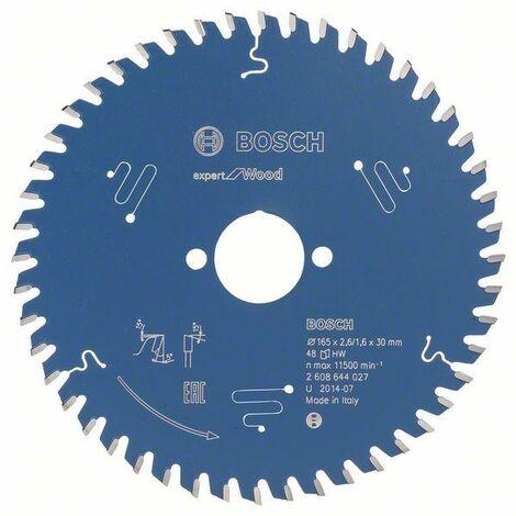 Bosch Lame de scie circulaire Expert for Wood 165 x 30 x 2,6 mm, 48