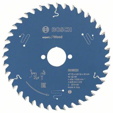 Bosch Lame de scie circulaire Expert for Wood 170 x 30 x 2,6/1,6 x 40