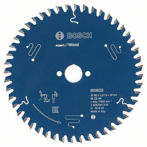 Bosch Lame de scie circulaire Expert for Wood, 170 x 30 x 2,6 mm, 40 dents - 2608644028