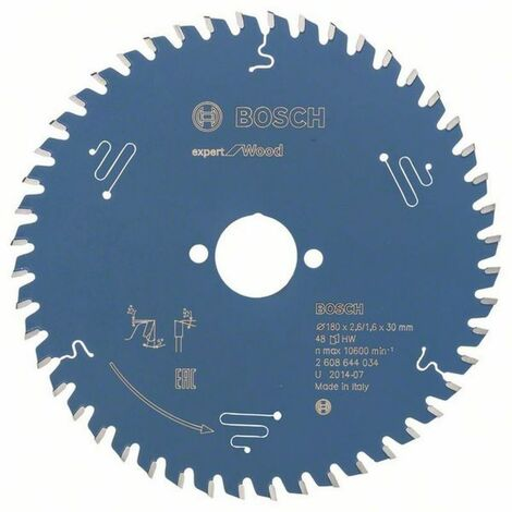 Bosch Lame de scie circulaire Expert for Wood 180 x 30 x 2,6/1,6 x 48