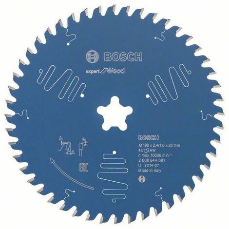 Bosch Lame de scie circulaire Expert for Wood 190 x Etoile x 2,4/1,6 x 48