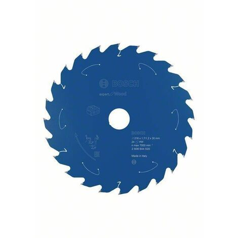 Bosch Lame de scie circulaire Expert for Wood, 216 x 1,7/1,2 x 30, 24 dents - 2608644520