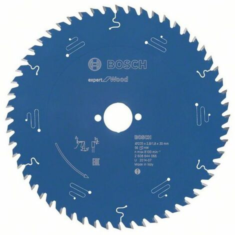 Bosch Lame de scie circulaire Expert for Wood 235 x 30 x 2,8/1,8 x 56