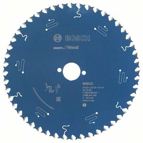 Bosch Lame de scie circulaire Expert for Wood, 235 x 30 x 2,8 mm, 48 dents - 2608644065