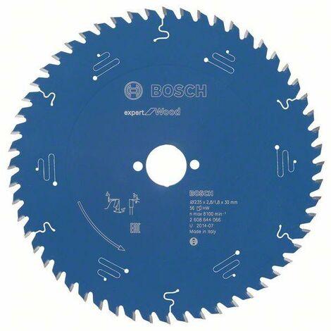 Bosch Lame de scie circulaire Expert for Wood, 235 x 30 x 2,8 mm, 56 dents - 2608644066