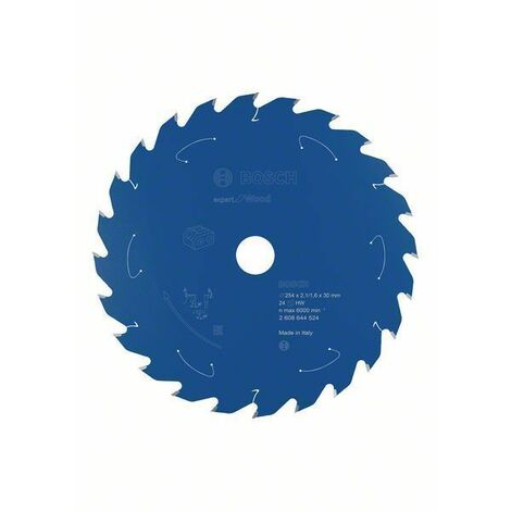Bosch Lame de scie circulaire Expert for Wood, 254 x 2,1/1,6 x 30, 24 dents - 2608644524