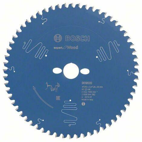 Bosch Lame de scie circulaire Expert for Wood, 260 x 30 x 2,4 mm, 60 dents - 2608644082