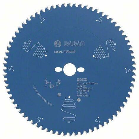 Bosch Lame de scie circulaire Expert for Wood, 315 x 30 x 2,4 mm, 72 dents - 2608644081