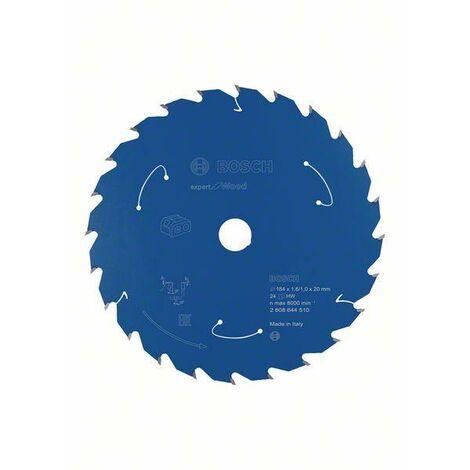 Bosch Lame de scie circulaire Expert for Wood pour scies sans fil, 184 x 1,6/1 x 20 T24 - 2608644510
