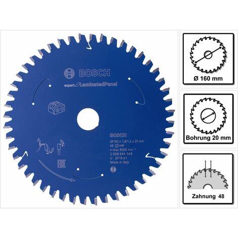 Bosch Lame de scie circulaire Expert pour panneau stratifié 160 x 1,2 x 20 mm 48 dents ( 2608644548 )