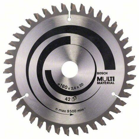 Bosch Lame de scie circulaire Multi Material 160 x 20/16 x 2,4 mm, 42