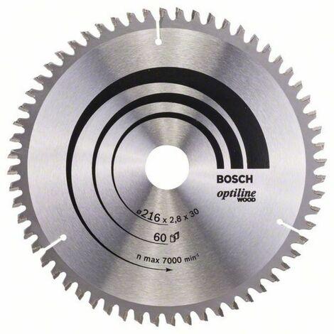 Bosch Lame de scie circulaire OPTILINE 216X30 60T