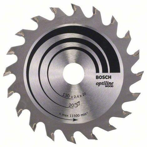 Bosch Lame de scie circulaire Optiline Wood, 130 x 20/16 x 2,4 mm, 20 - 2608640582