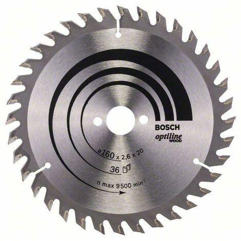 Bosch Lame de scie circulaire Optiline Wood 160 x 20/16 x 2,6 mm, 36