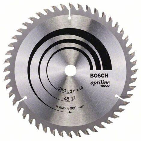 Bosch Lame de scie circulaire Optiline Wood 184 x 16 x 2,6/1,6