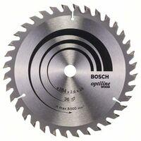 Bosch Lame de scie circulaire Optiline Wood, 184 x 16 x 2,6 mm, 36 - 2608640818