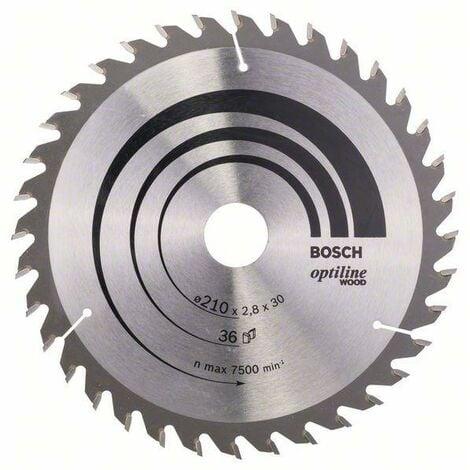 Bosch Lame de scie circulaire Optiline Wood, 210 x 30 x 2,8 mm, 36 dents - 2608640622