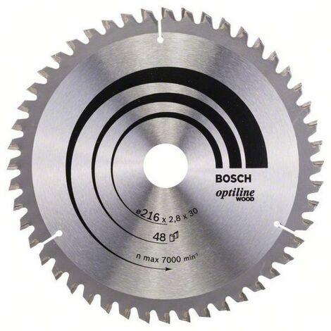 Bosch Lame de scie circulaire Optiline Wood 216 x 30 x 2,8/1,8