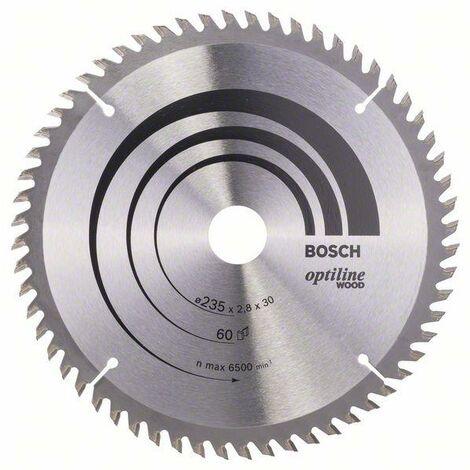 Bosch Lame de scie circulaire Optiline Wood 235 x 30/25 x 2,8 mm, 60