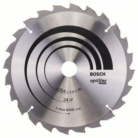 Bosch Lame de scie circulaire Optiline Wood 254 x 30 x 2,0 mm, 24