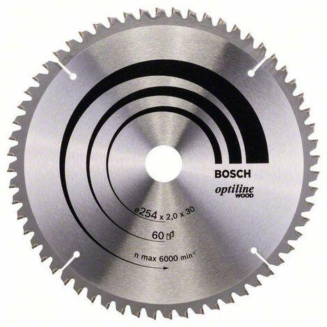 Bosch Lame de scie circulaire Optiline Wood 254 x 30 x 2,0 mm, 60