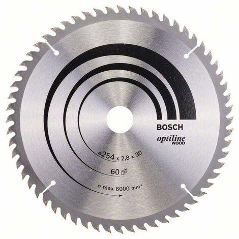 250 x 30 x 3,2 mm 60 Bosch Lame de scie circulaire Top Precision Best for Wood