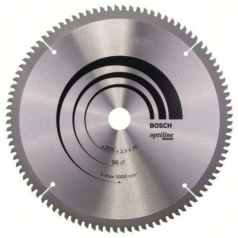 Bosch Lame de scie circulaire Optiline Wood 305 x 30 x 2,5 mm, 96