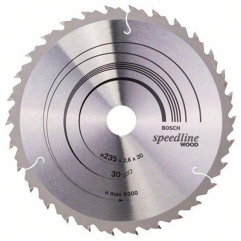 Bosch Lame de scie circulaire SPEEDL W 235X30 30T