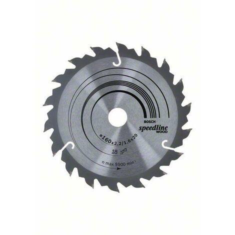 Bosch Lame de scie circulaire Speedline Wood 160 x 20 x 2,4 mm, 18
