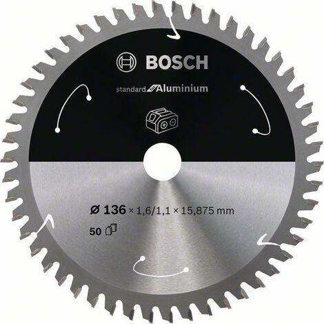 Bosch Lame de scie circulaire Standard for Aluminium pour scies sans fil 136x1.6/1.1x15.875, T50 - 2608837753