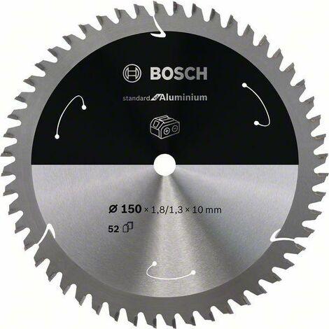 Bosch Lame de scie circulaire Standard for Aluminium pour scies sans fil 150x1.8/1.3x10, T52 - 2608837762