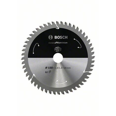 Bosch Lame de scie circulaire Standard for Aluminium pour scies sans fil 150x1.8/1.3x20, T52 - 2608837756