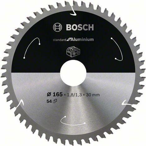 Bosch Lame de scie circulaire Standard for Aluminium pour scies sans fil 165x1.8/1.3x30, T54 - 2608837764