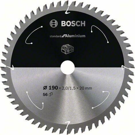 Bosch Lame de scie circulaire Standard for Aluminium pour scies sans fil 190x2/1.5x20, T56 - 2608837770